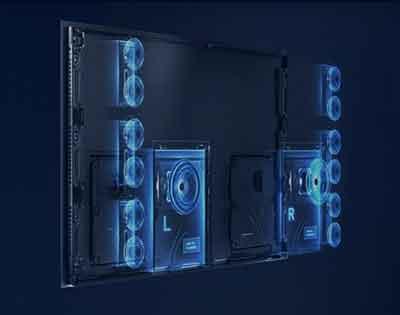 شکل2- مجهز شدن هواوی ویژن ایکس ۶۵ به ۱۴ اسپیکر