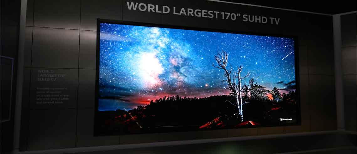 شکل - تلویزیون های بزرگ سامسونگ