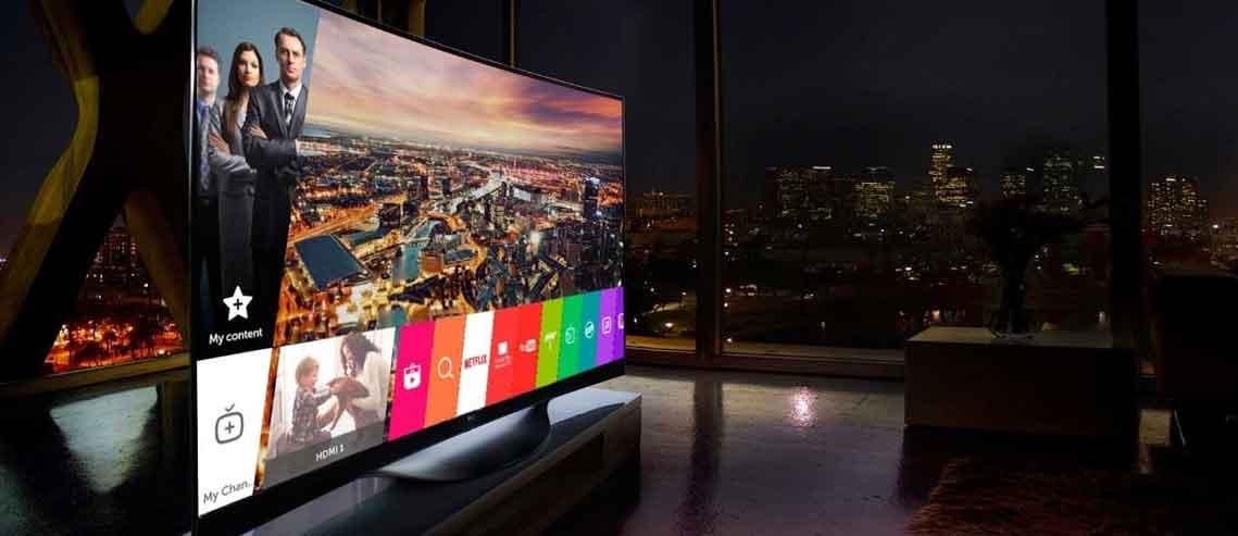شکل- سیستم عامل تایزن در تلویزیون